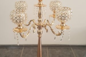 Gold 5 arm Candelabra