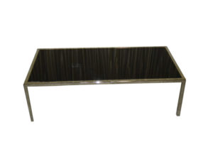 LUCITE BLACK COFFEE TABLE 2'X4′
