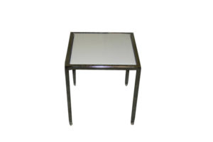 LUCITE WHITE END TABLE 18″x18″
