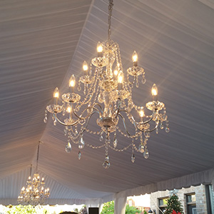 Frame Tents with Chandelier